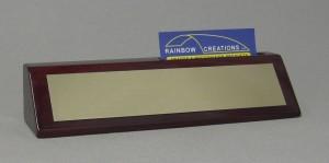 Rosewood Piano Finish Name Block w/Card Thumbnail