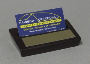 Rosewood Business Card Holder Thumbnail