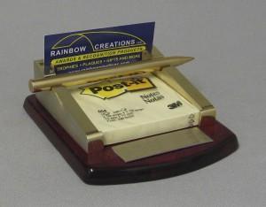 Rosewood Card Holder, Pen and Pad Thumbnail