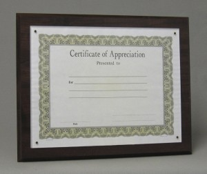 Certificate plaques Thumbnail