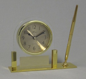 Golden Desk Clock Thumbnail