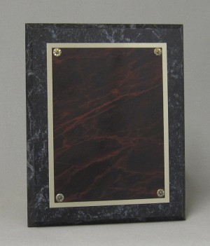 Marblelized brass plaque Thumbnail