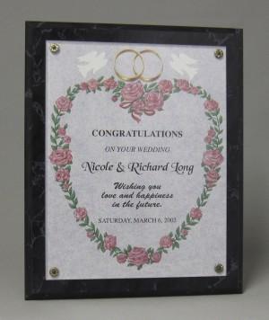 Wedding plaque Thumbnail