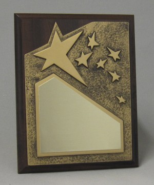 Rising Star Plaque - Gold Thumbnail