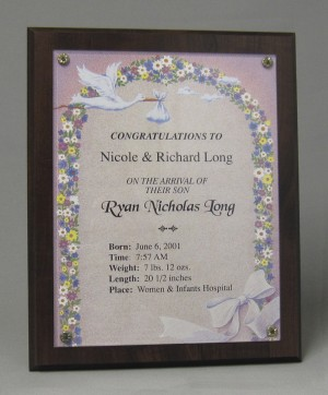 Newborn plaque Thumbnail