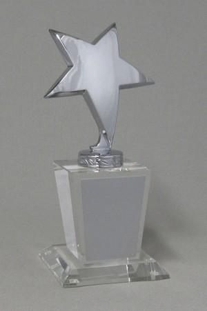 Acrylic Silver Stars Thumbnail